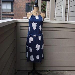 Old Navy Draw string halter floral sun dress Sz S